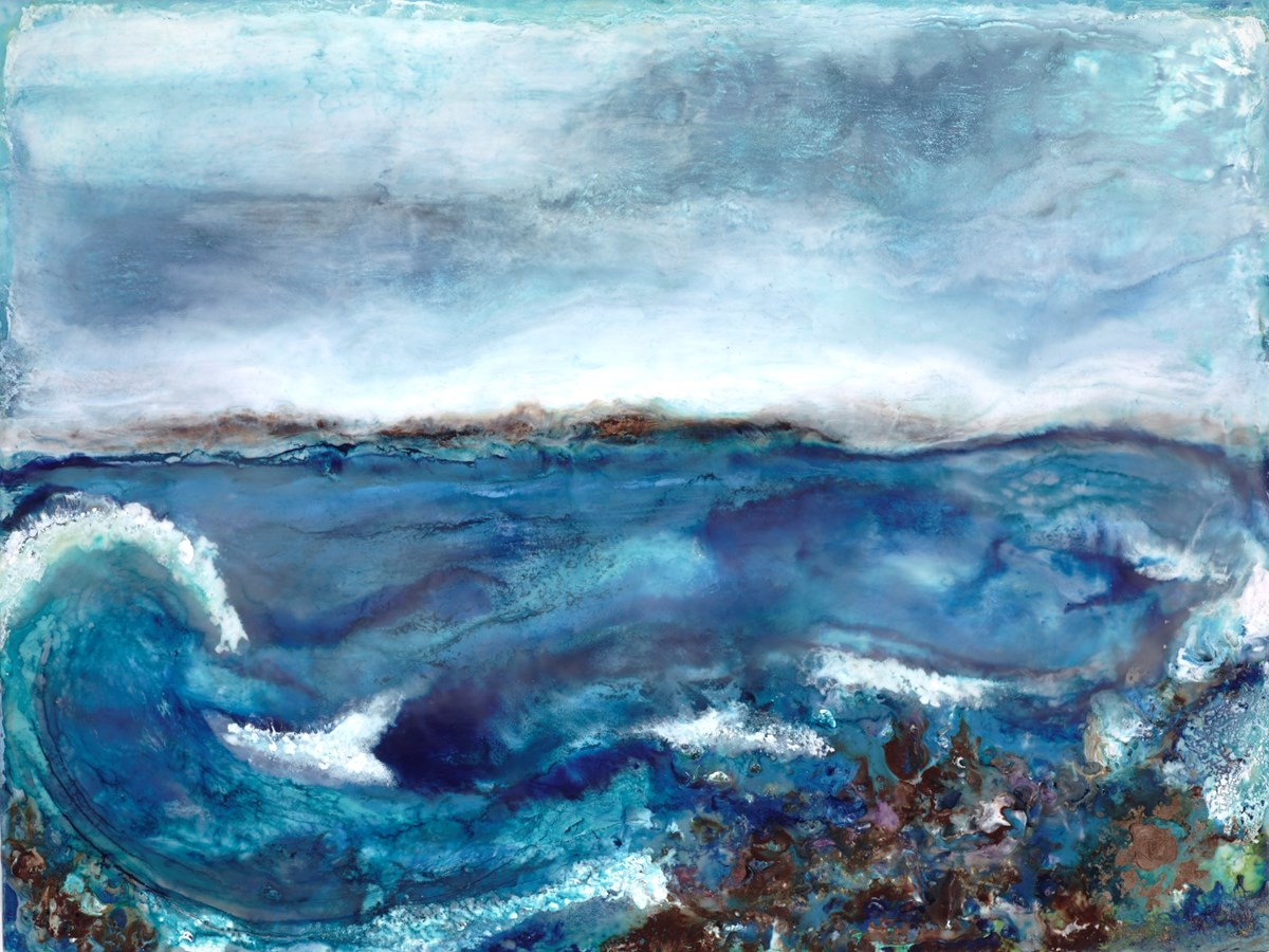 Summer Surf by jennine parker -  sized 24x18 inches. Available from Whitewall Galleries